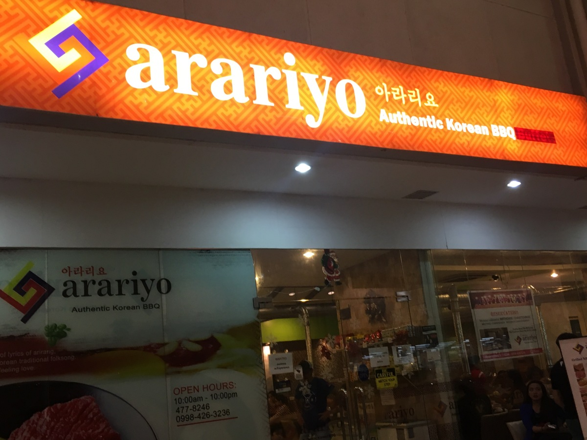 Korean barbecue craving satisfied atArariyo
