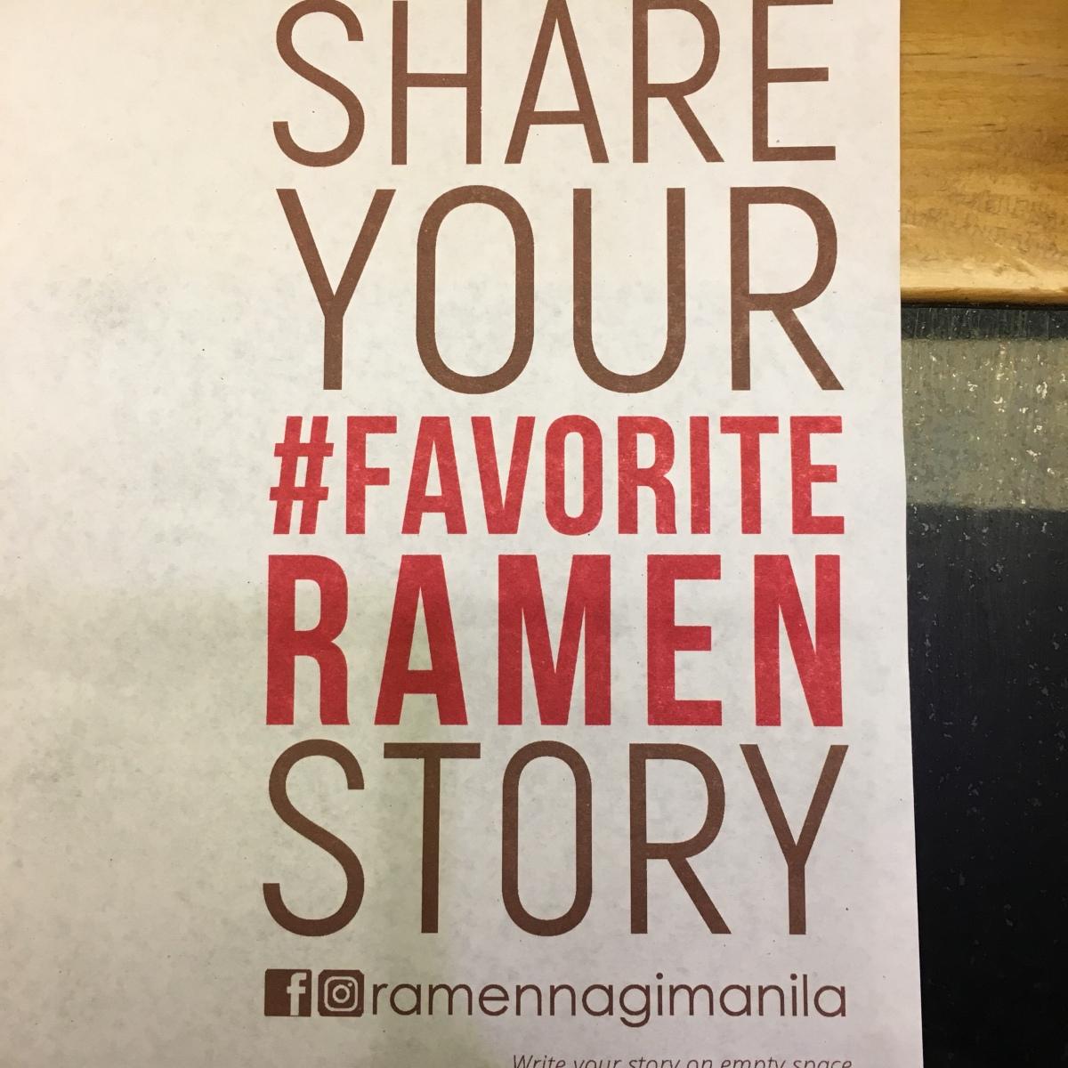 Ramen Choices at Ramen Nagi, RobinsonsGalleria