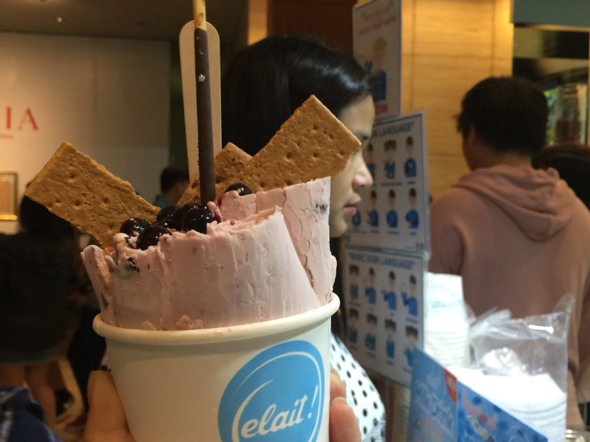 Elait's Artisanal Rolled Ice Cream at the Ayala Museum