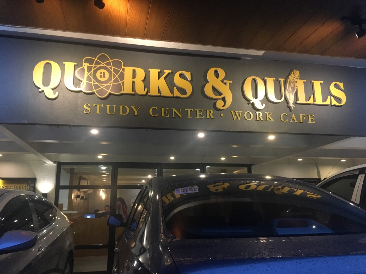 A quiet place to work and eat (and even study!): Quarks & Quills,Banawe