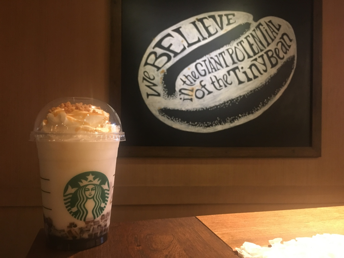 Tried the new Caramel Cinnamon Cookie Frap at Starbucks, Tomas Morato