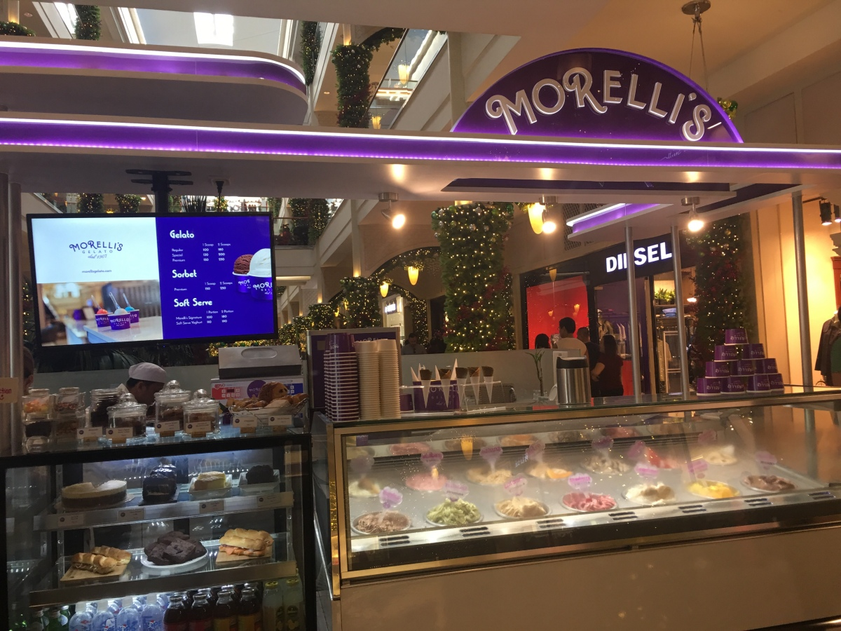 Gelato Treat at Morelli's, Powerplant Mall