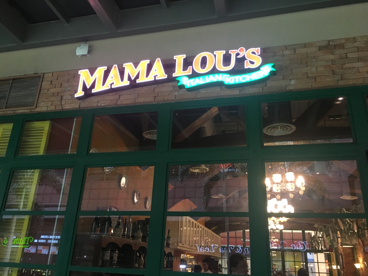 Good food and good vibes at Mama Lou's Italian Kitchen, Ayala Vertis North