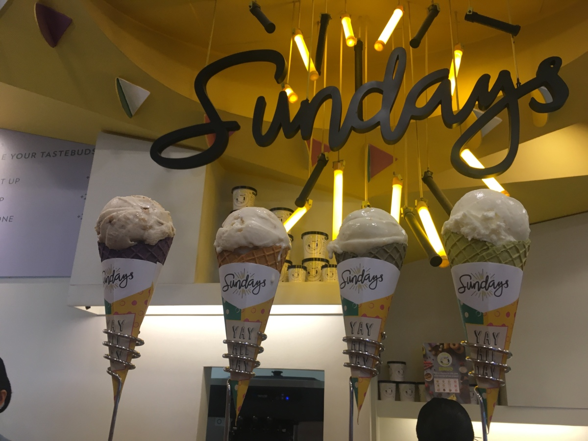 Everyday's a good day for ice cream at Sundays by Merry Moo, The Podium