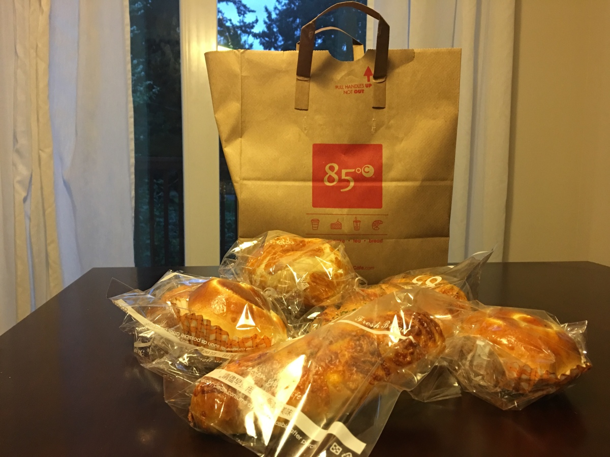 Breakfast Takeout at 85C Bakery Cafe,Lynnwood