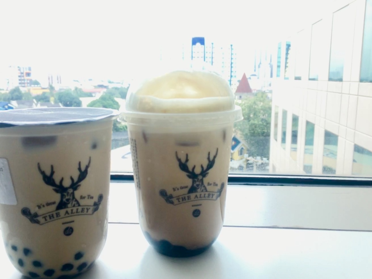 Premium milk tea at The Alley, SM North EDSA