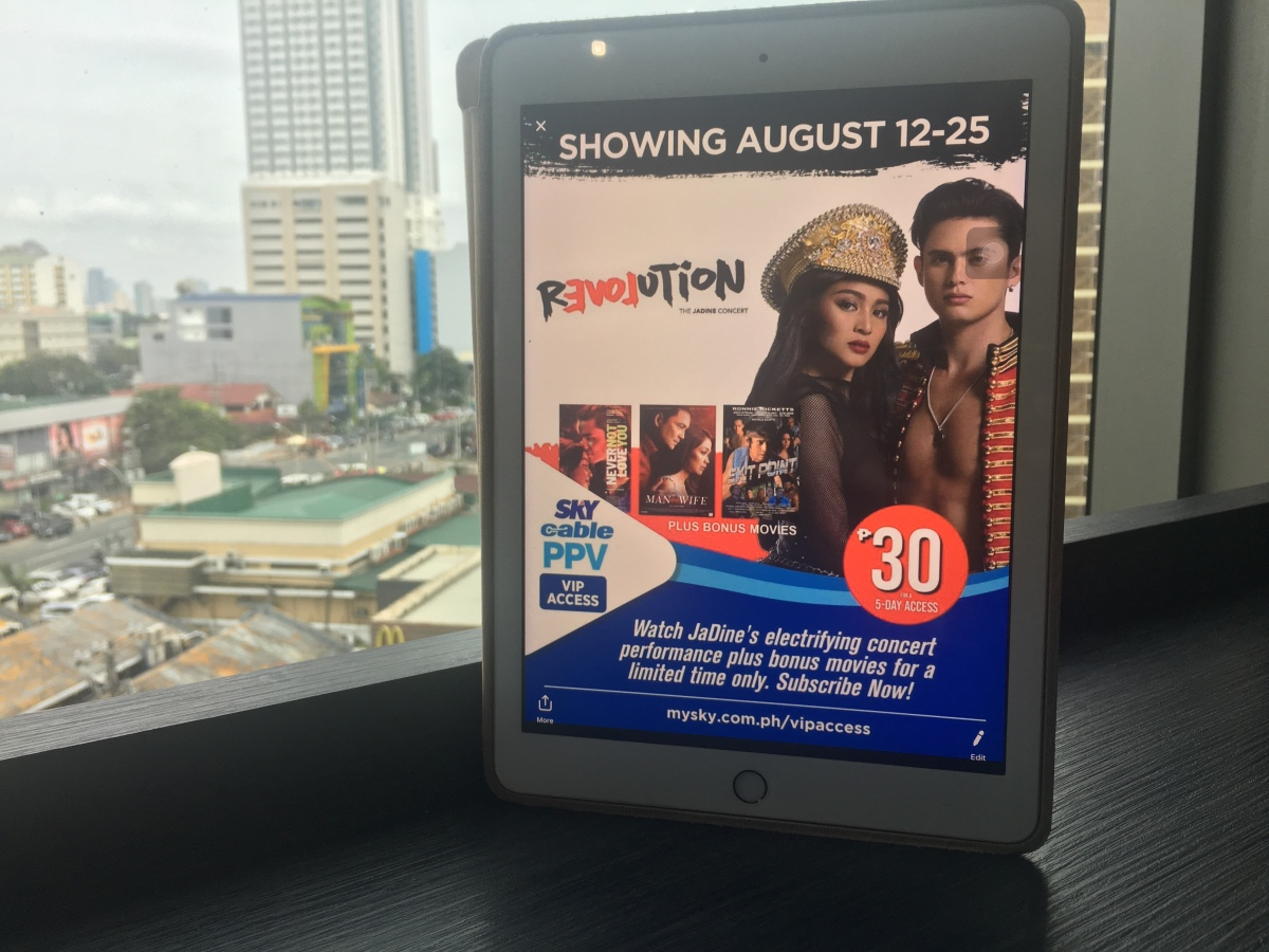"Catch-up JaDine's ""Revolution"" Concert on SKYcable PPV"