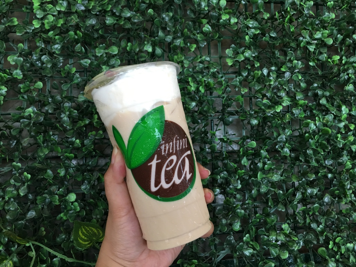 Milk tea treat at Infinitea, Tomas Morato