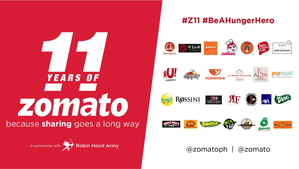 Zomato's 11th Anniversary – A Birthday with a Bang!