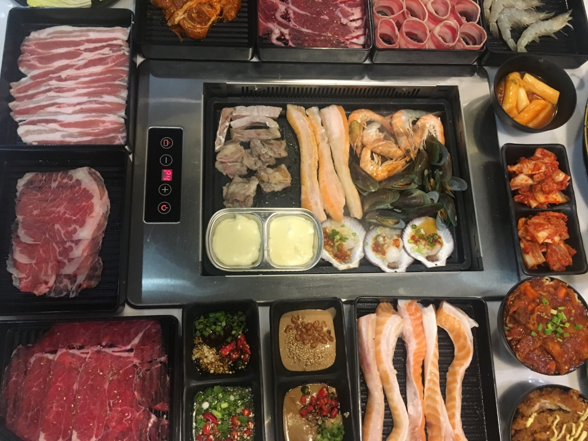 Union of cuisines at Four in Love BBQ Hotpot Buffet, SMManila