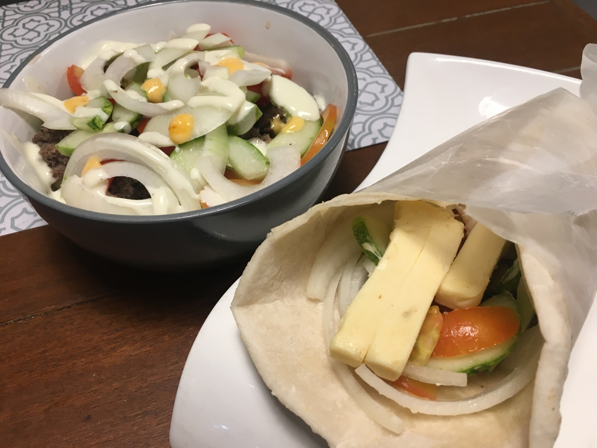 Two takes on beef shawarma at Sultan Mediterranean Grill,Kapitolyo
