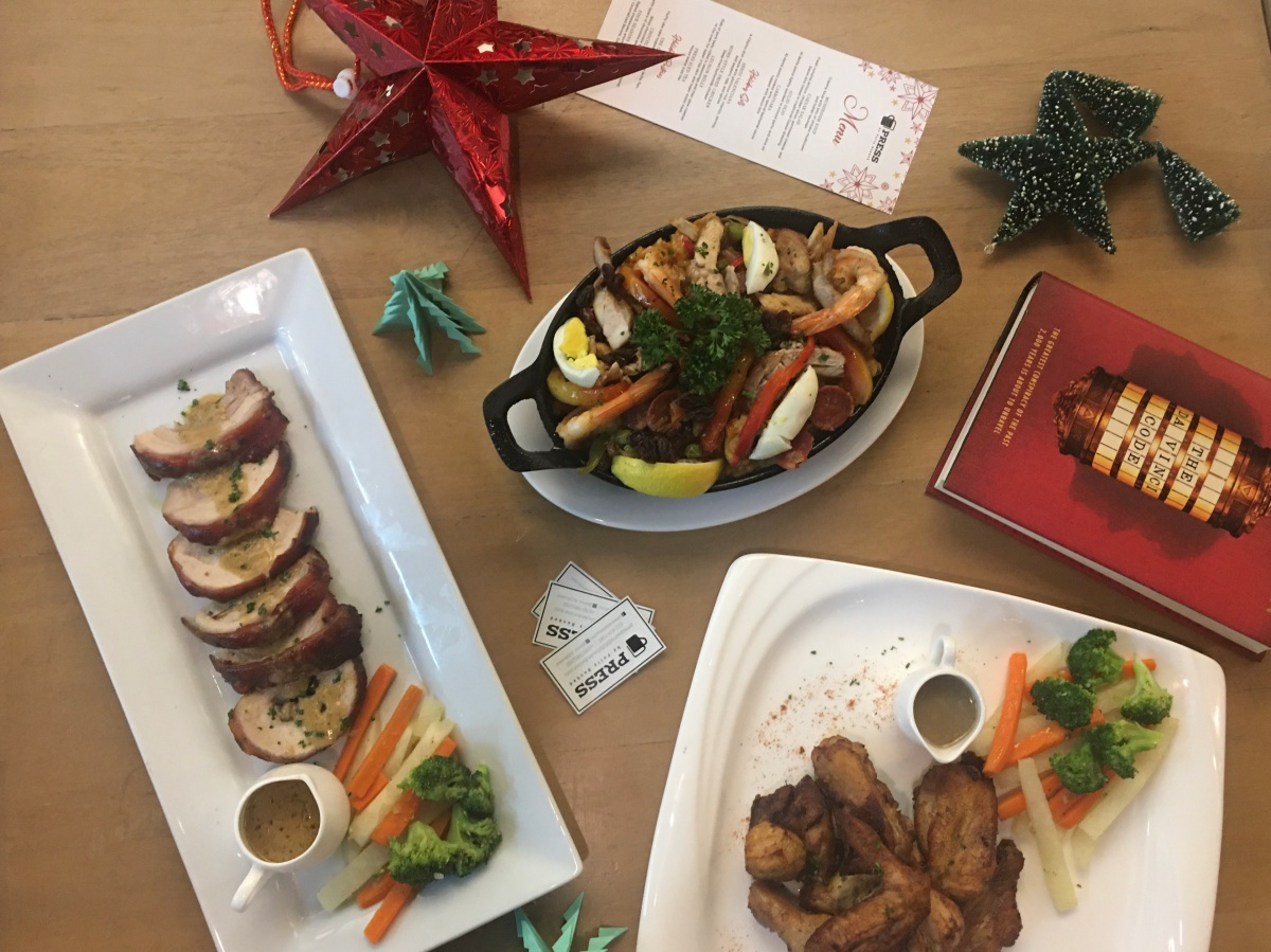 Noche Buena-inspired meal sets at Press by Fully Booked, Powerplant Mall