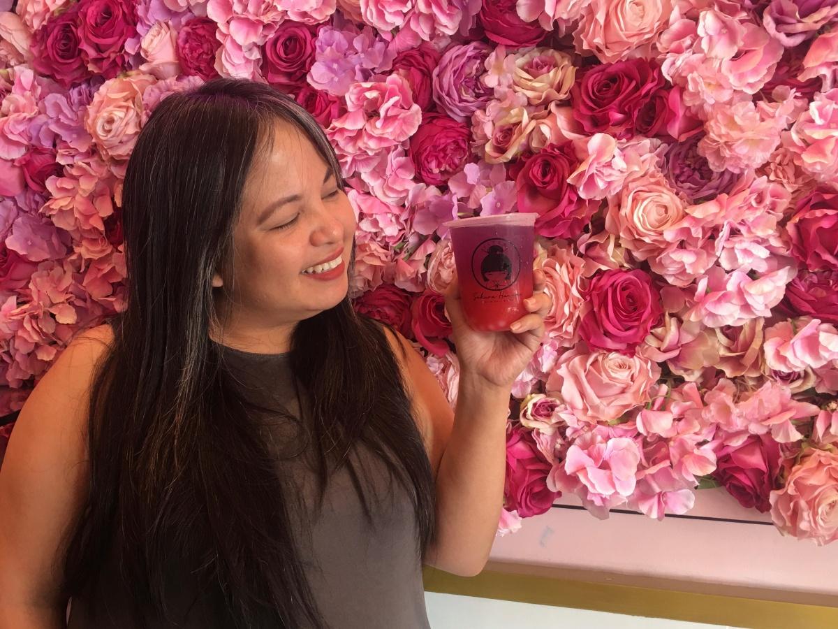 Cherry blossoms and tea at Sakura Hanami,Maginhawa
