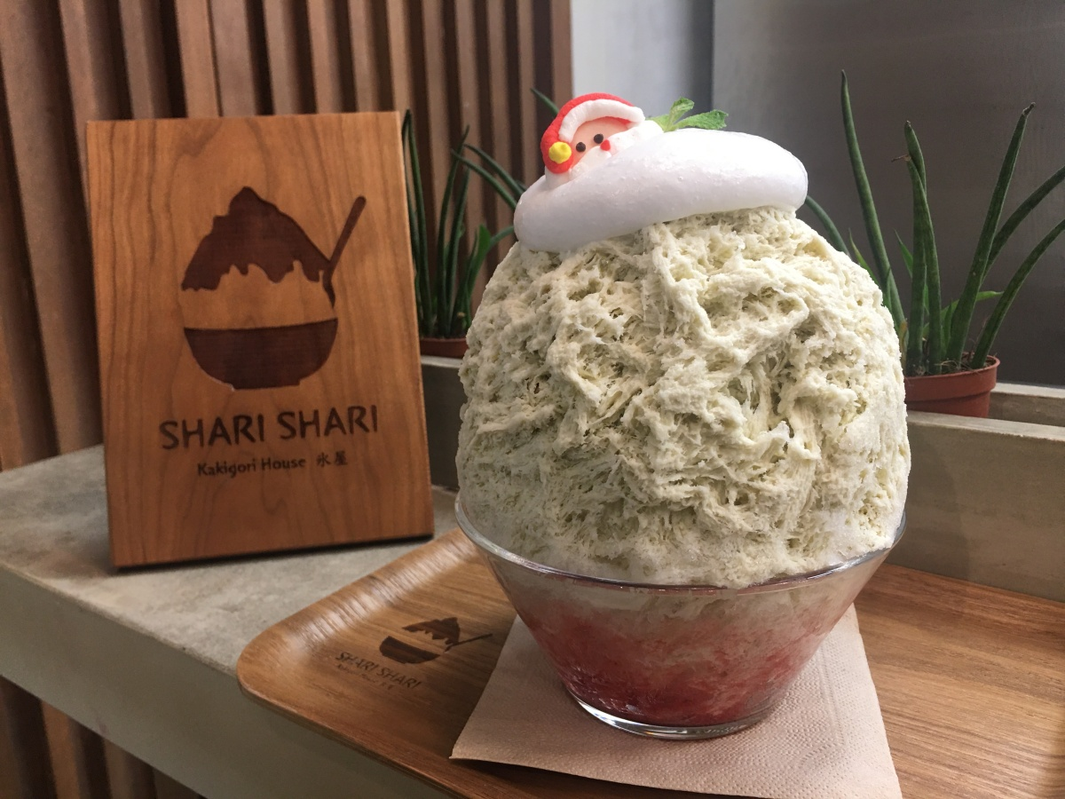 Holiday kakigori flavors at Shari Shari, BGC