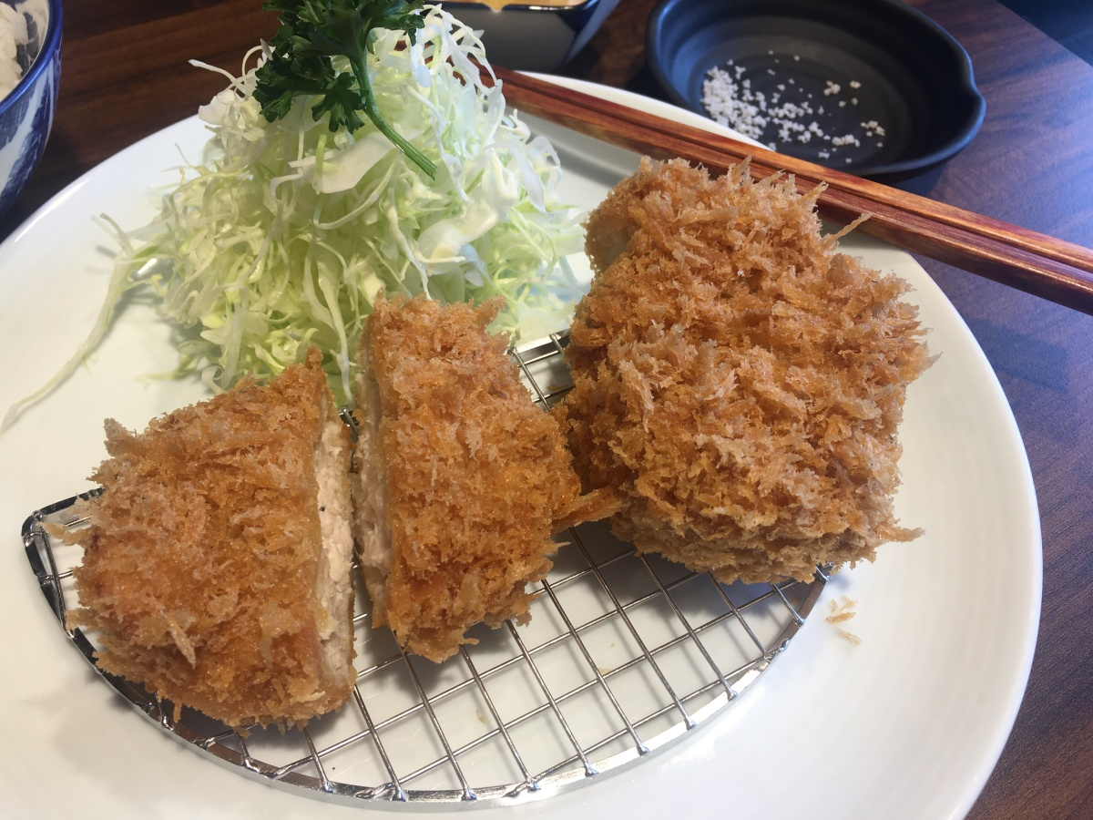 A tonkatsu lunch at Fumizen, Tomas Morato