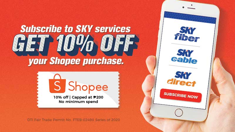 SKY partners with Shopee for a special subscription offer