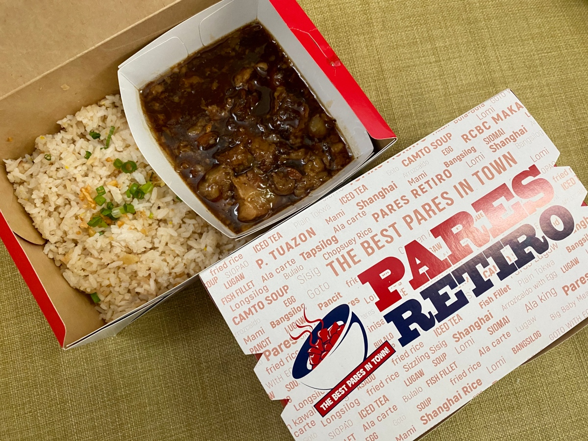 Lunch delivery from Pares Retiro, Tomas Morato via LalaFood