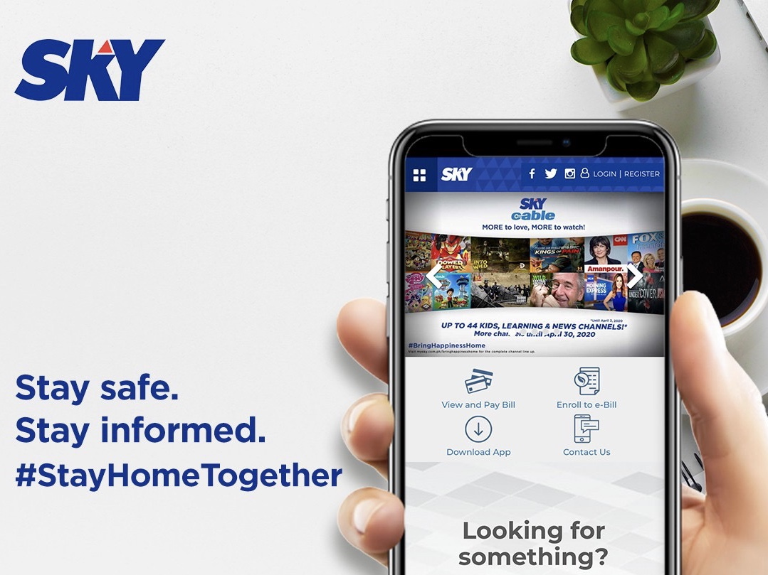 SKY subscribers can now safely manage their subscriptions and ask for help online