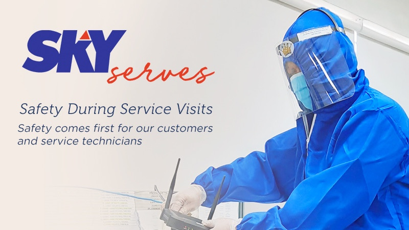 SKY sets friendly safety procedures for service teams