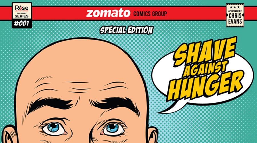 Zomato Philippines shaves for a goodcause