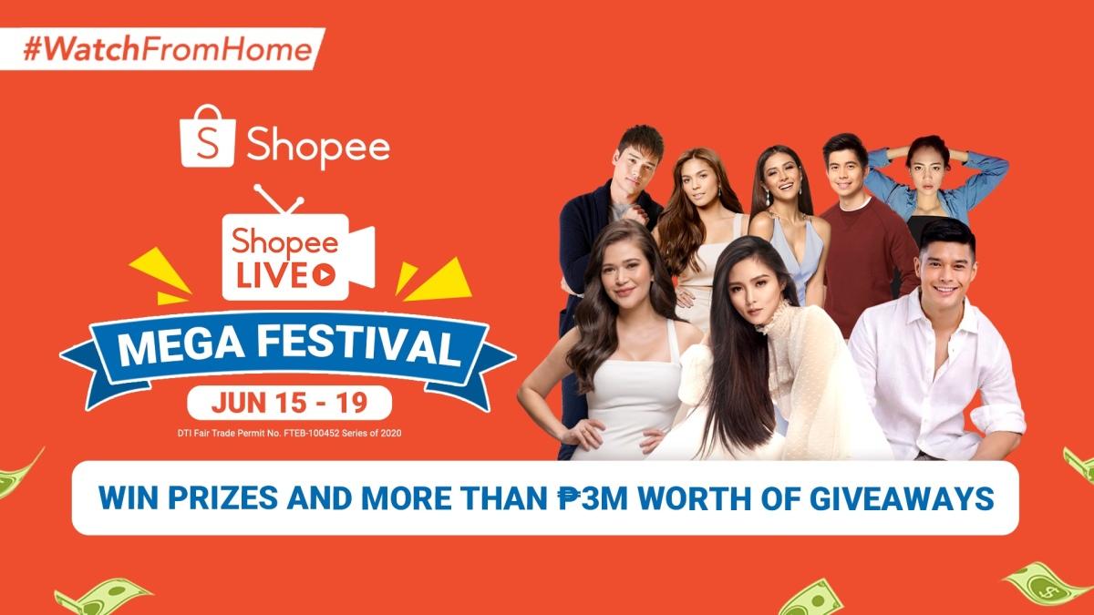Shopee kicks off Shopee Live Mega Festival featuring Kim Chiu, JC de Vera, Bela Padilla, and MarcoGumabao