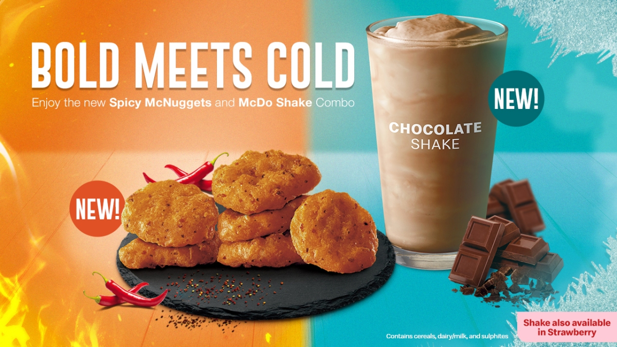Treat your taste buds with the NEW #McDoBoldMeetsCold combo — the Spicy McNuggets and McDo Shake!