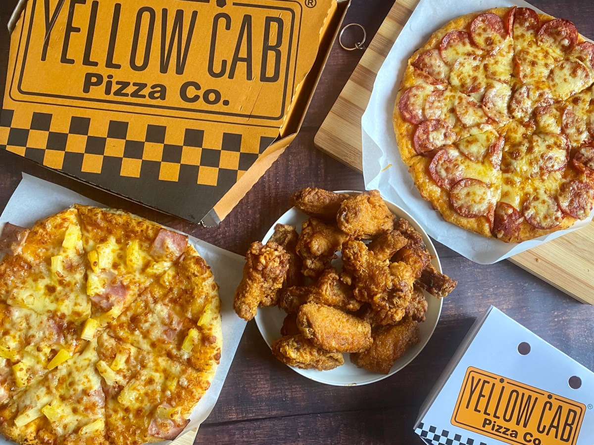 House Pizza Time with Yellow Cab delivery