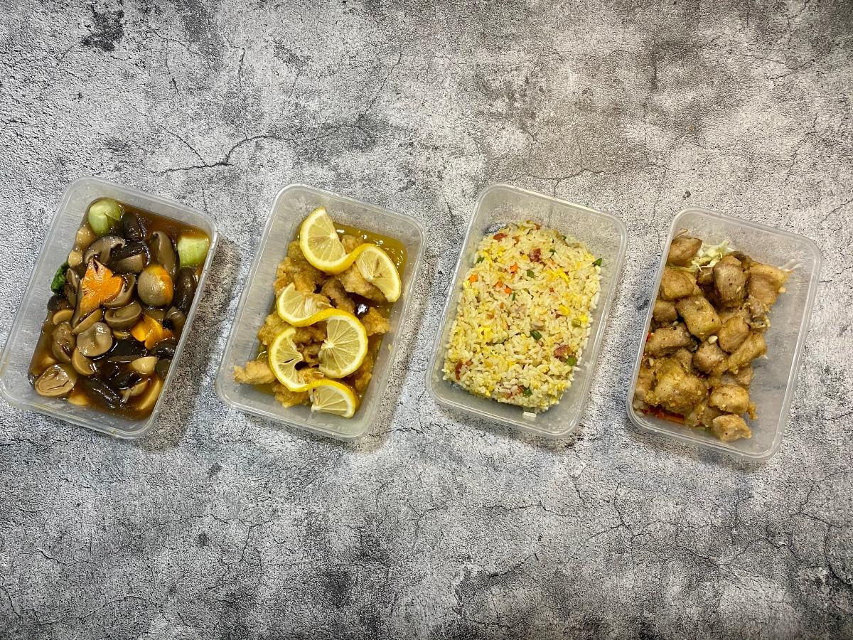 Chinese dinner feast from Eat Fresh Famous Hongkong Street Food,Maybunga