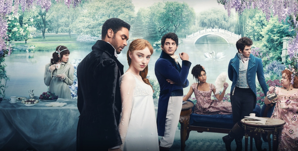 "Regency era romance series ""Bridgerton"" based on Julia Quinn novels premieres today on Netflix"
