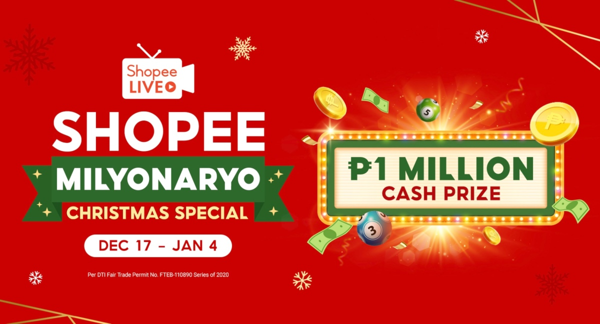 Become a millionaire with Shopee Milyonaryo's Christmas Special!