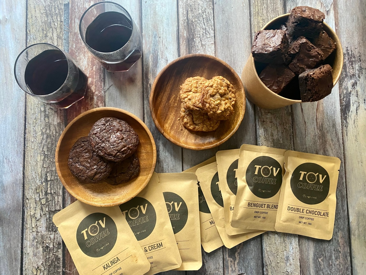 Awesome pairing of cookies and coffee from Bake Boss and TOVCoffee
