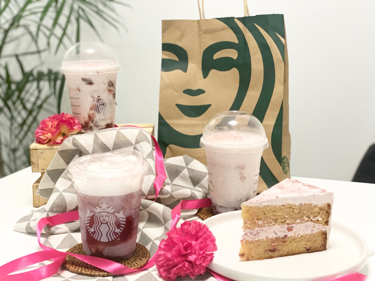 Welcome the cherry blossom season with Starbucks' Sakura series