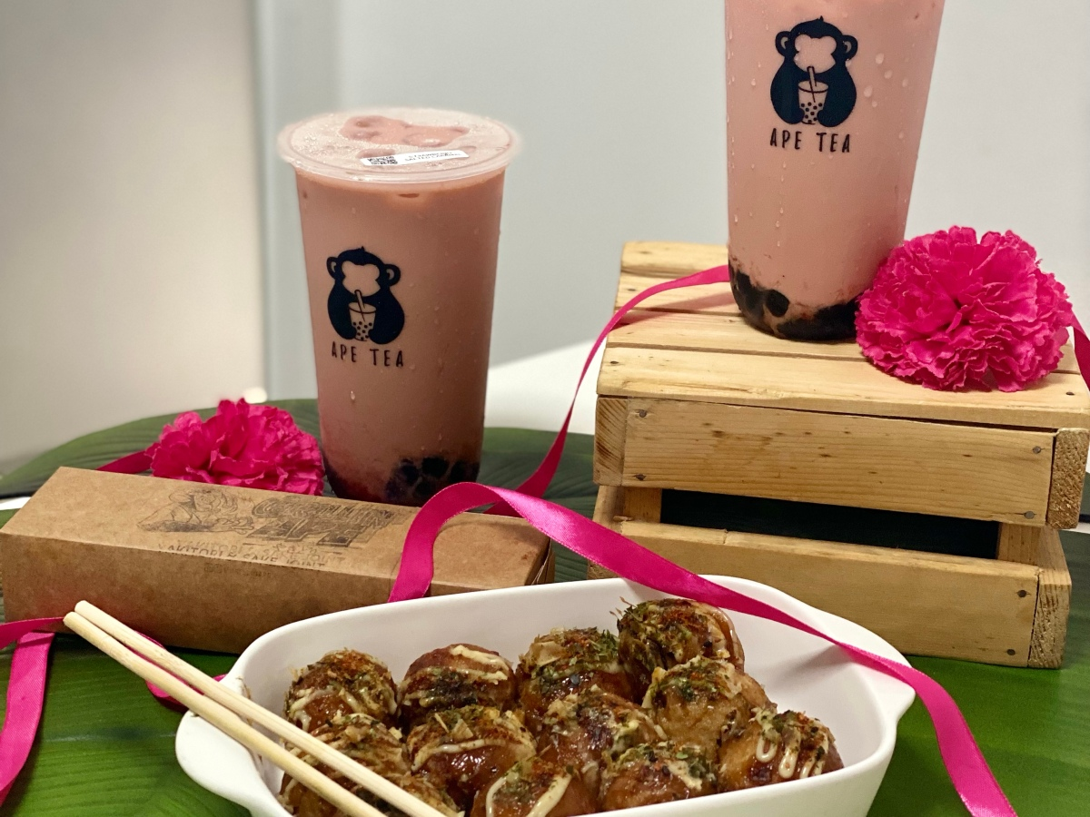 Non-dairy and fructose-free milk teas from Grillin'Ape